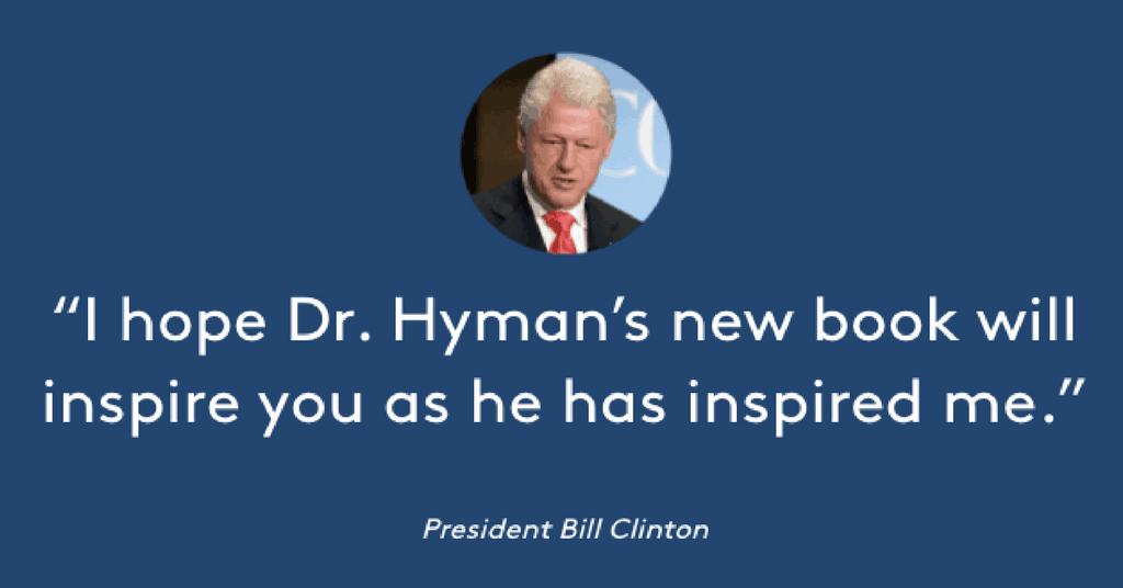 Dr Hymna President Clinton testimonial trendsetter