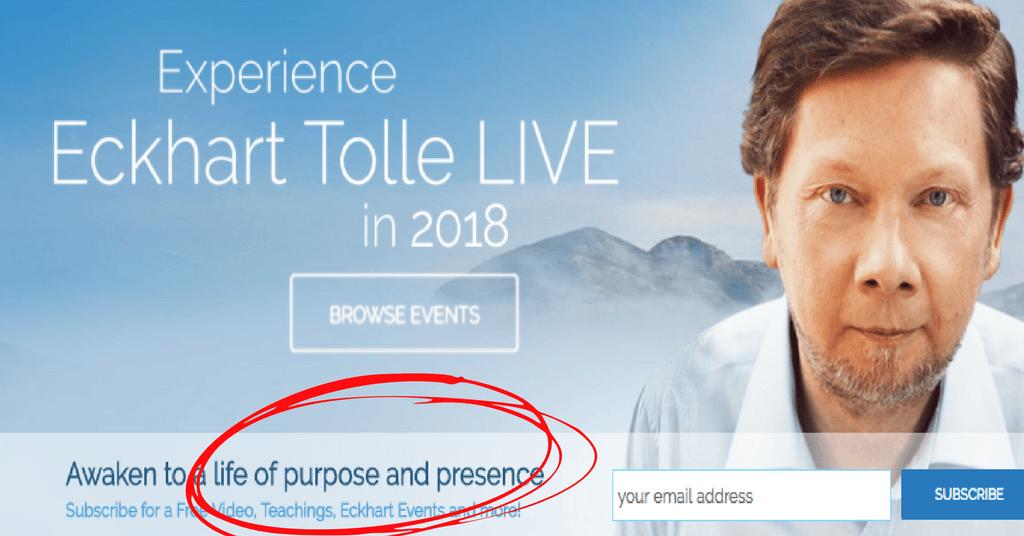 Eckhart Tolle online trendsetter and influencer