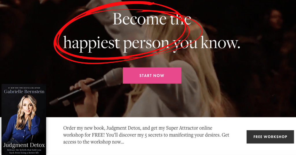 Gabby Bernstein online influencer and trendsetter offer